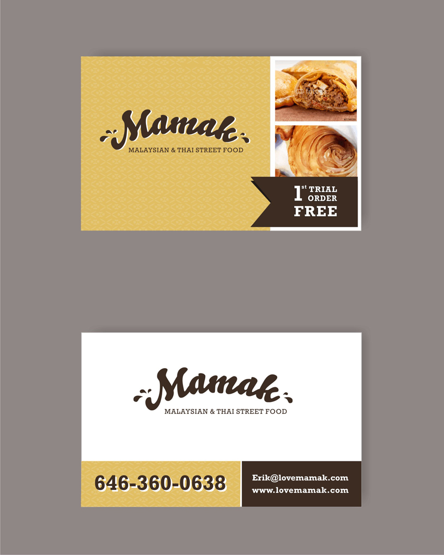 Business card design for erik by matele design 4092431 business card design by matele for curry puff factory business card design 4092431 reheart Image collections