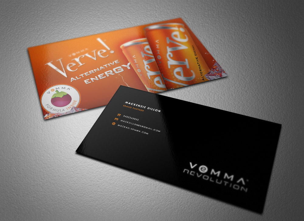 Vemma business cards kkklinton business card design for mackenzie dillon by eggo may p design colourmoves Gallery