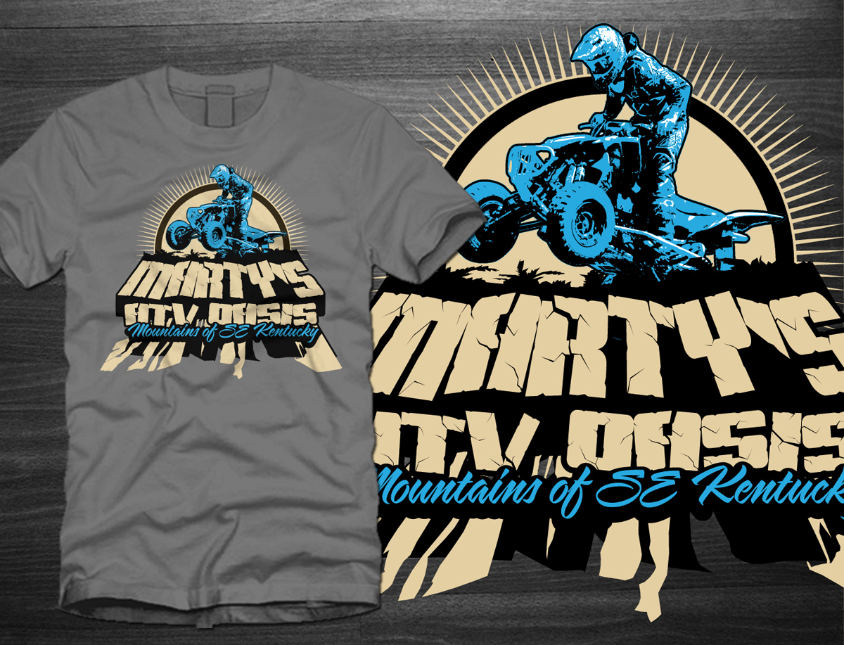 Shirt design needed - T Shirt Design By One Day Graphics For Marty S Atv Oasis Llc T