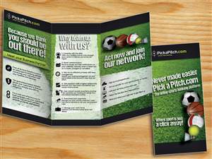 Brochure Design by alessandroevge - Brochure for an Online Sport Booking Website