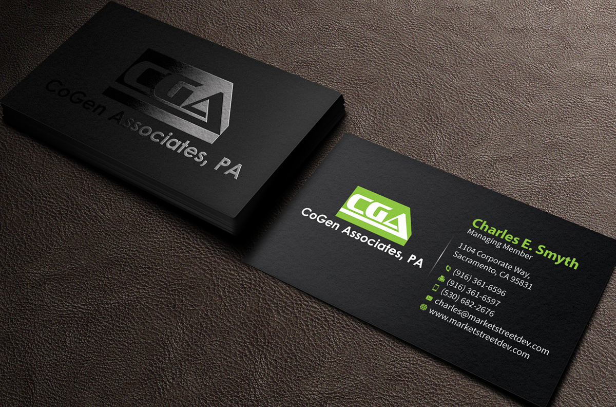 Business card design for cogen associates by mediaproductionart business card design by mediaproductionart for electrical engineering business card design design 4113576 magicingreecefo Images