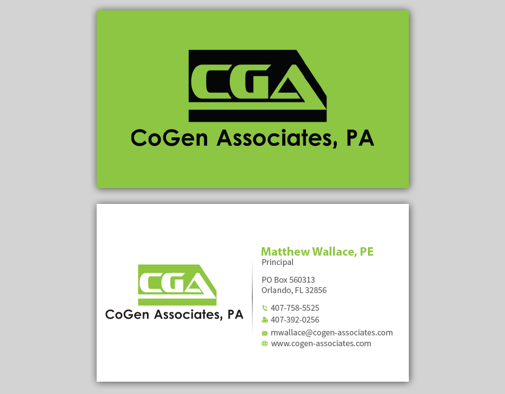 Electrical Engineers Consulting Business Cards : Theme park business card design for cogen associates by