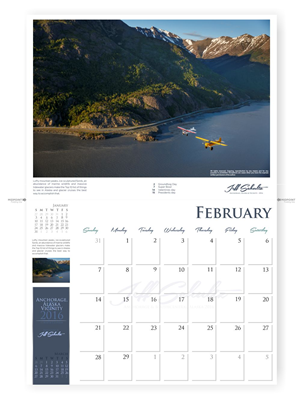 Graphic Design by Tlacaelel - Retail Photo Calendar of Anchorage, Alaska