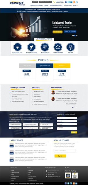 Photoshop Design by smart - New web design for tech company