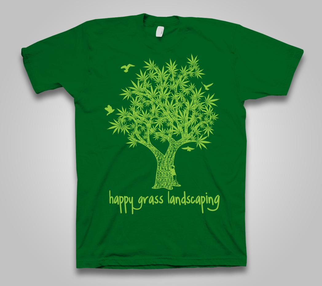 T-shirt Design by cinimod for Shirt Hacker LLC | Design #4166123 - Playful, Colorful, Landscaping T-shirt Design For Shirt Hacker LLC