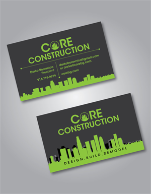 Modern upmarket construction business card design for a company by business card design by shakar for this project design 4166107 colourmoves
