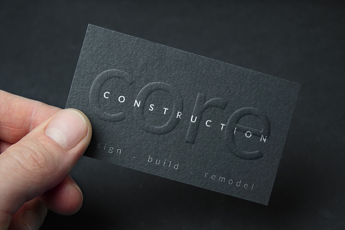 Modern upmarket construction business card design for a company by business card design by atlas for this project design 4118868 reheart Images