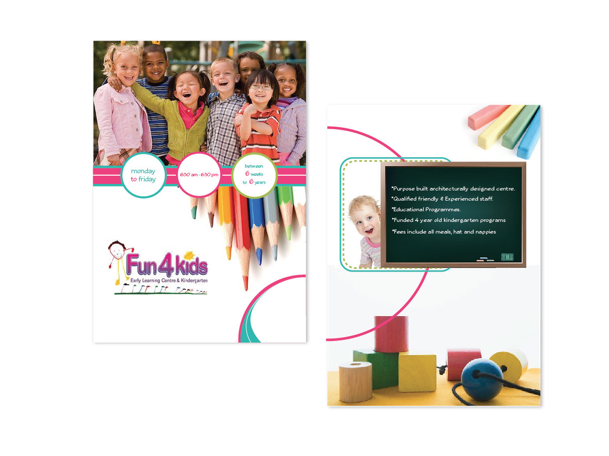 Education Flyer Design For Fun 4 Kids Early Learning Centre By