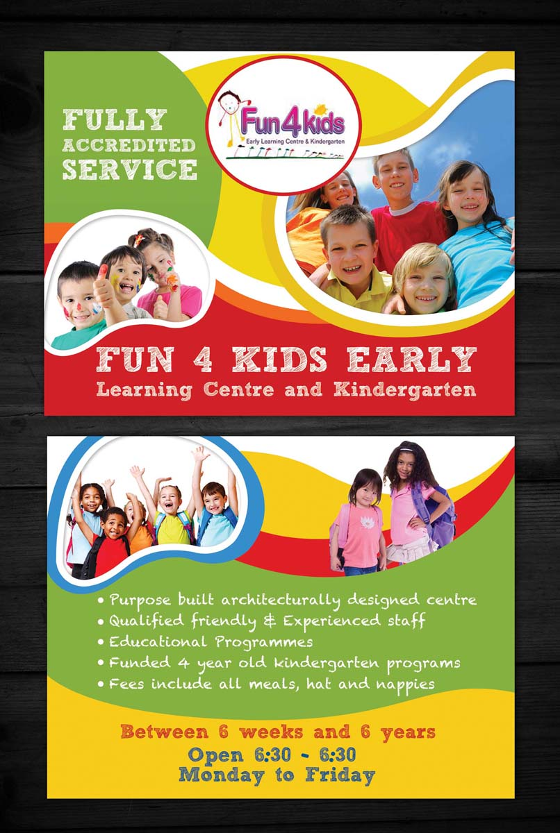Flyer Design For Fun 4 Kids Early Learning Centre