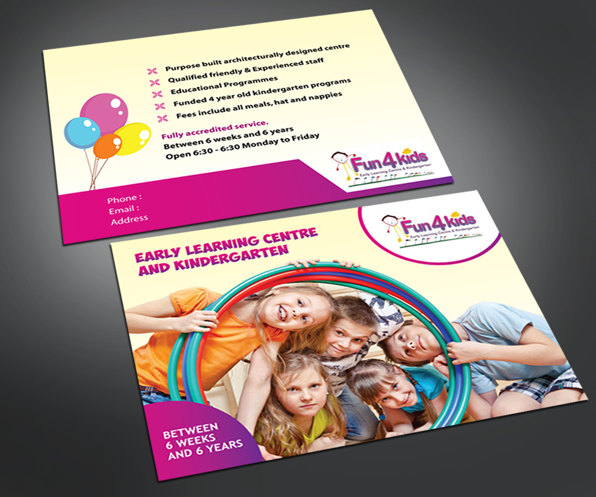 professional childcare flyer designs for a childcare business in flyer design design 4099389 submitted to child care centre fyler closed