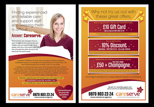Flyer Design by laxman2creative - Care recruitment flyers