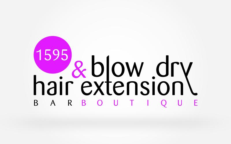 Playful Feminine Boutique Logo Design For 1595 Blow Dry Hair