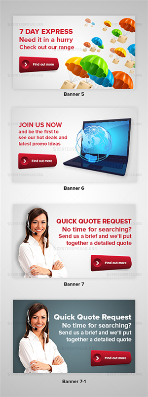 Banner Ad Design by CENTERSPREAD - Banners for promotional products website