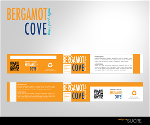 Label Design by Sucre - Bergamot Cove Face Cleanser Labels