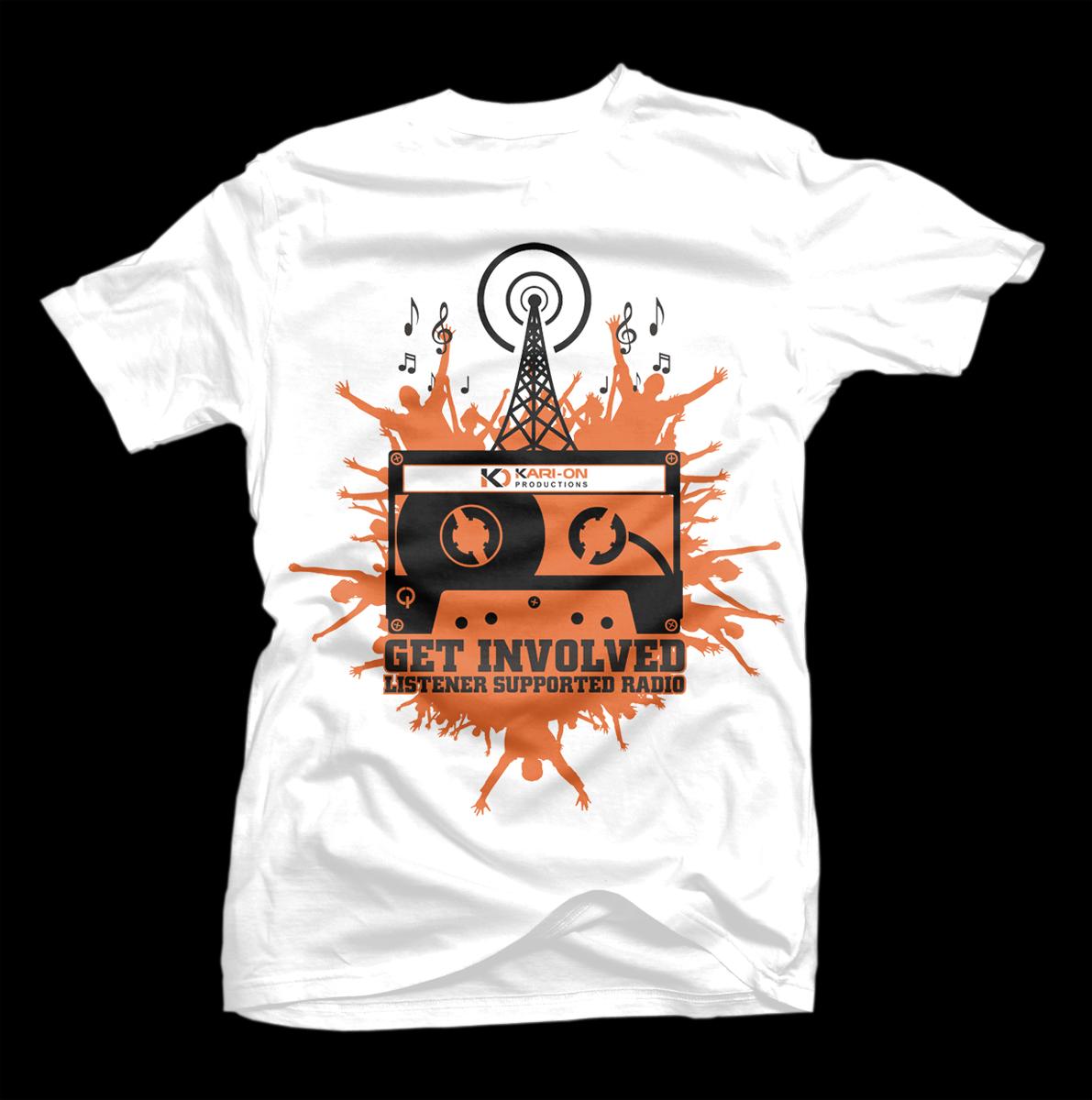 Tshirt design - Bold Upmarket Radio Tshirt Design By D Mono