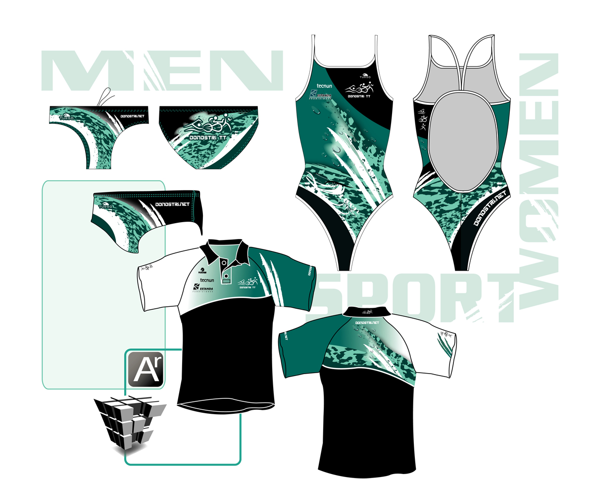 Redesign of Swim Suit and T-shirt for Swimming Team | 44 T ...