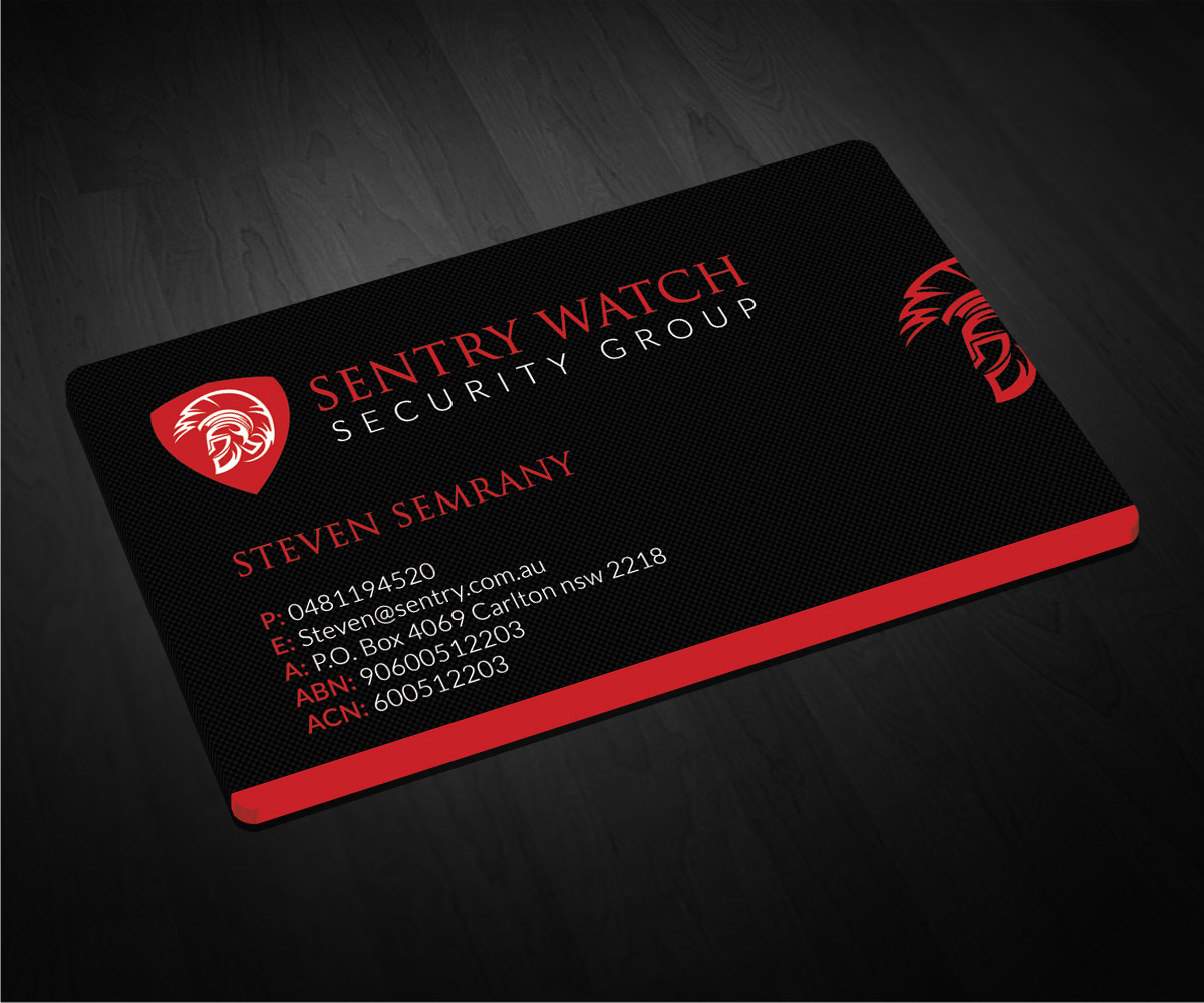 Security Business Card Design For A Company By Smart