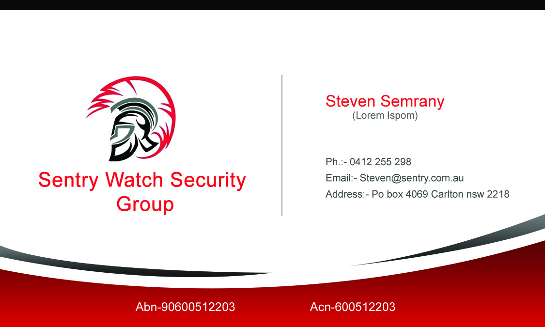 Security business card design for a company by sajanepx design business card design by sajanepx for this project design 4116356 colourmoves