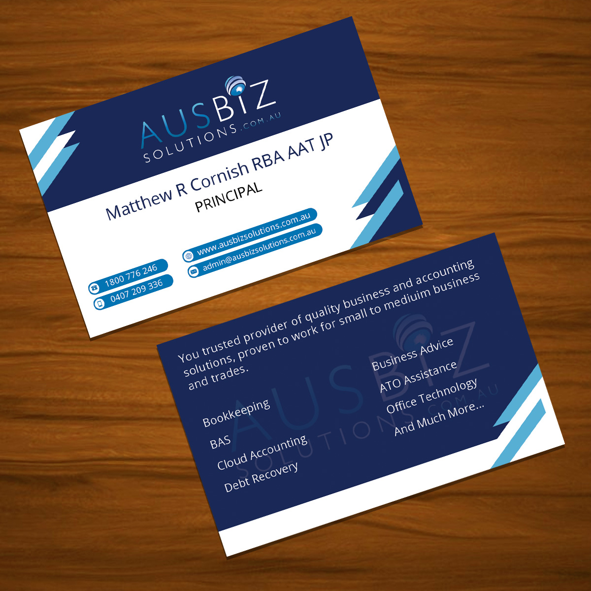Business business card design for ausbiz solutions by tariq business business card design for ausbiz solutions in australia design 4171760 reheart Gallery