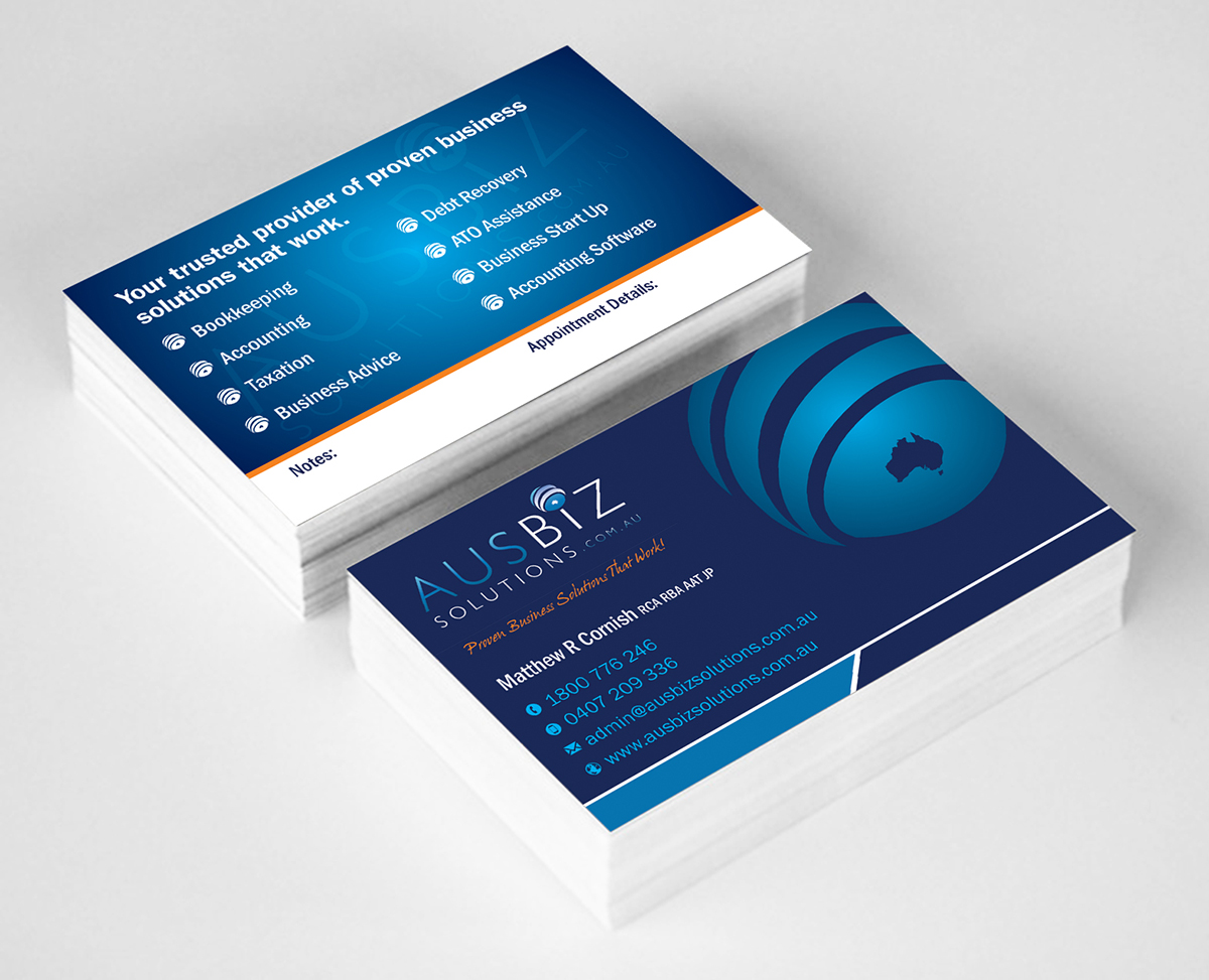 Business Card Examples Accounting Gallery - Card Design And Card ...