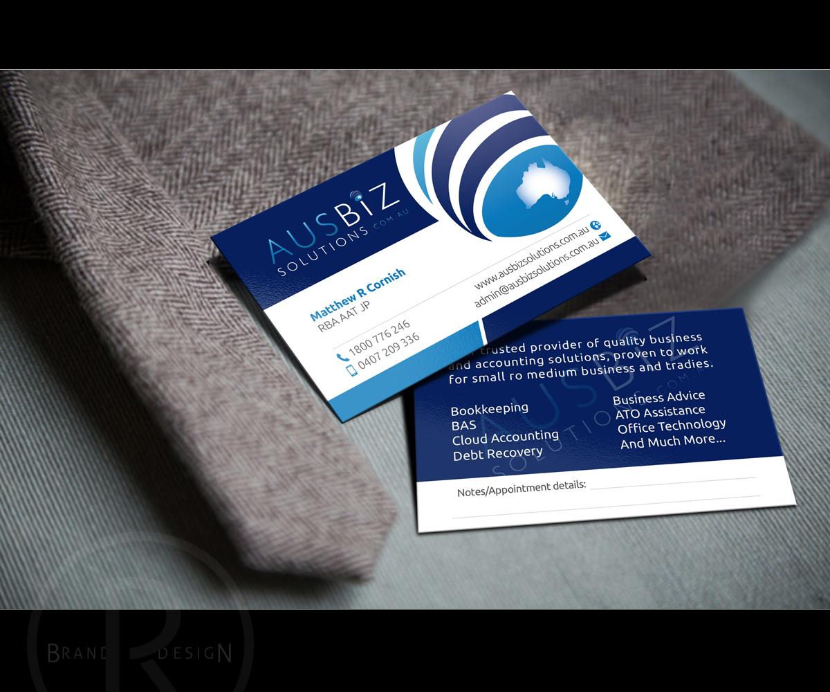Business business card design for ausbiz solutions by business card design by richlha for ausbiz solutions design 4173692 reheart Gallery