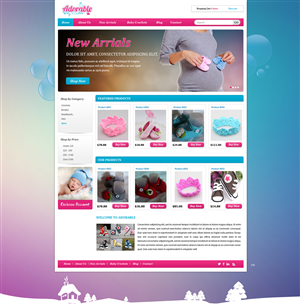 Web Design by pb - Adorable Baby Crochets Needs a Beautiful Website