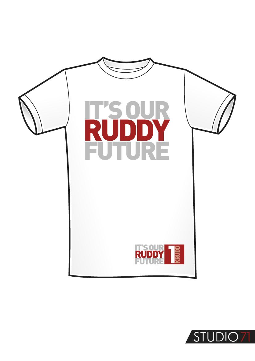 Shirt design australia - Kevin Rudd Crowdsources 2013 Election T Shirt