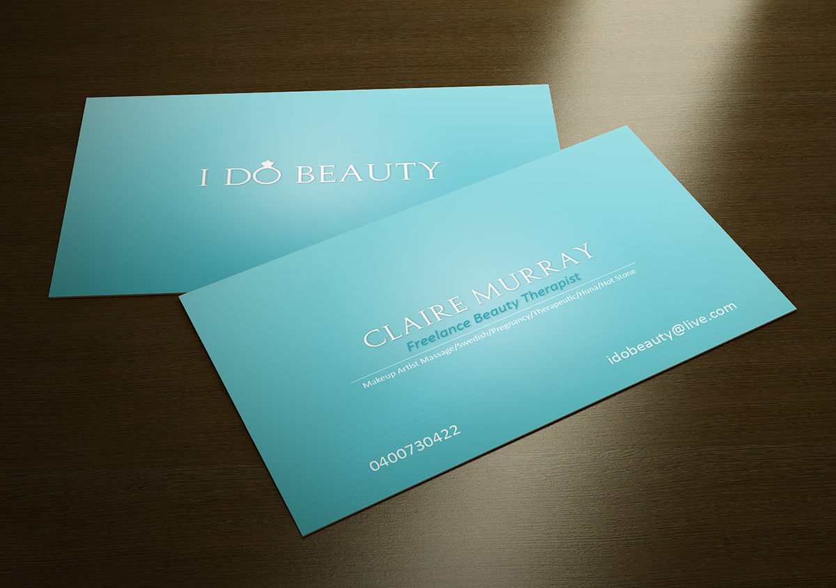 Business Card Design By Dub Co For Beauty Therapy 1164806