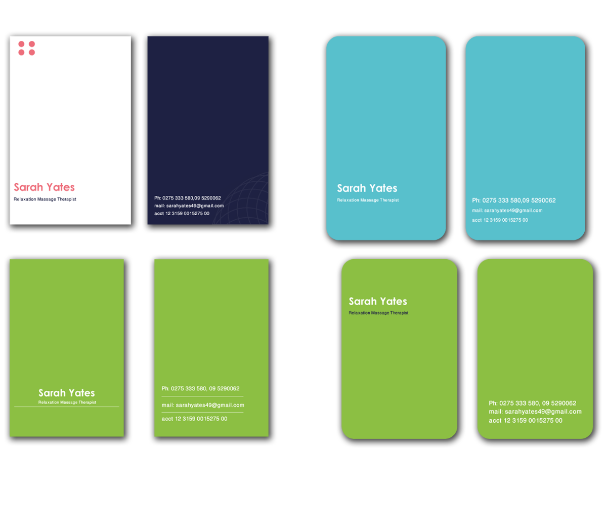 serious modern business card design for sarah yates by design