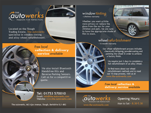 Flyer Design by Sharp Design - A5 flyer required for alloy wheel refurbishment...