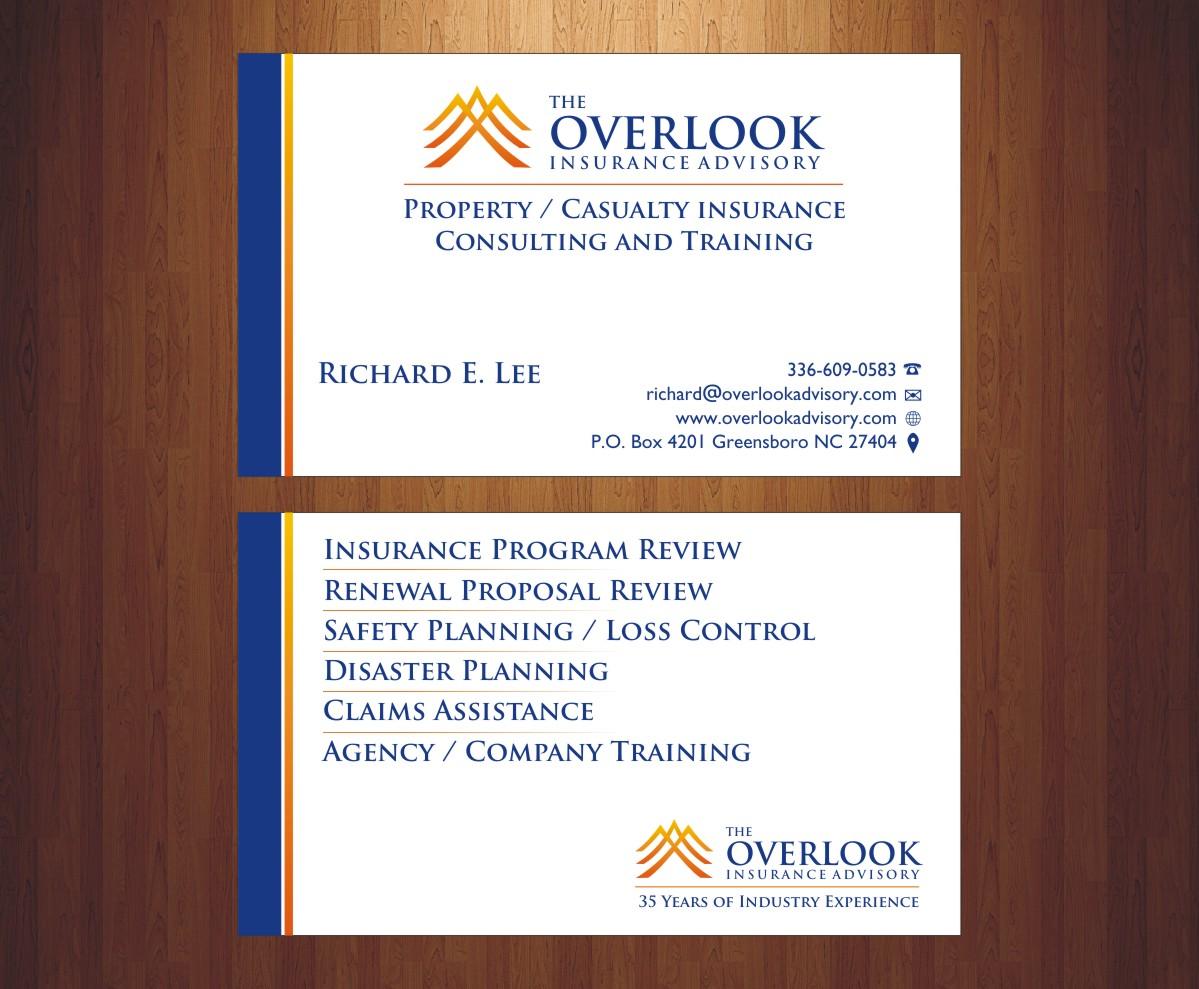 43 modern business card designs insurance business card design business card design by poonam gupta for the overlook insurance advisory design 4179852 colourmoves