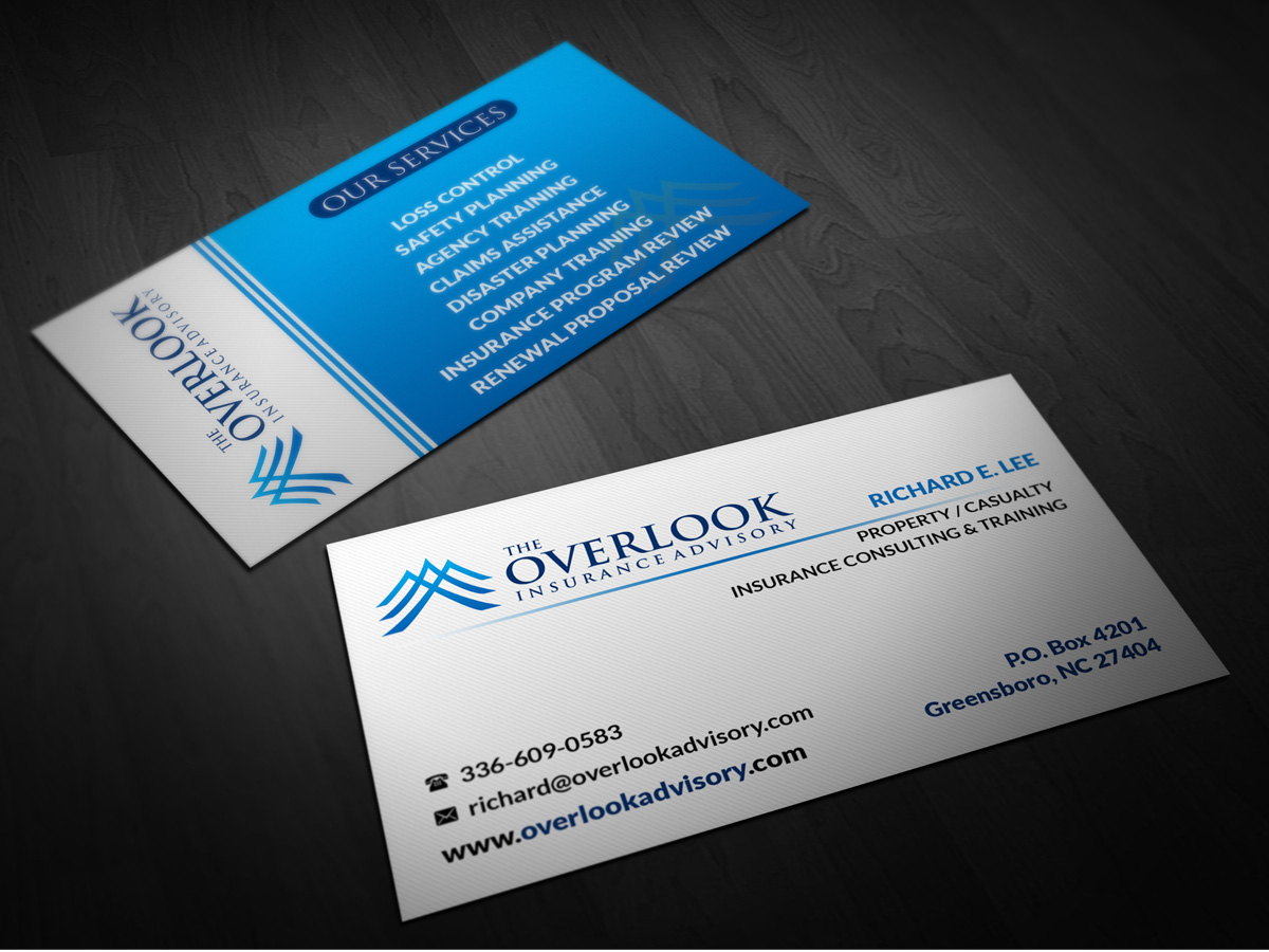 Modern, Professional Business Card Design for The Overlook ...