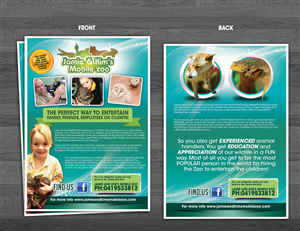 Brochure Design by yganess - Jamie and kims mobile zoo