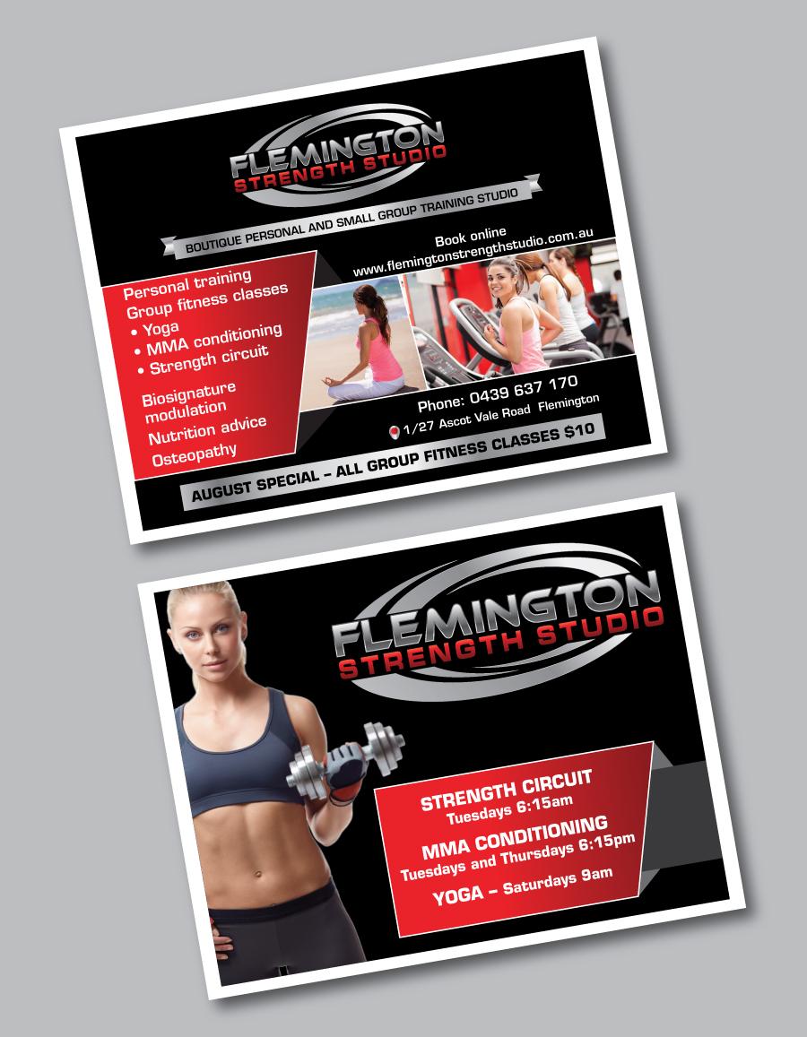 bold upmarket training poster design for flemington strength