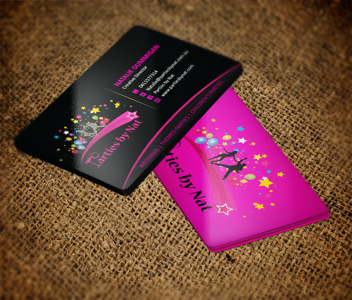 Party Planning Business Card Design for a Company by MT | Design ...