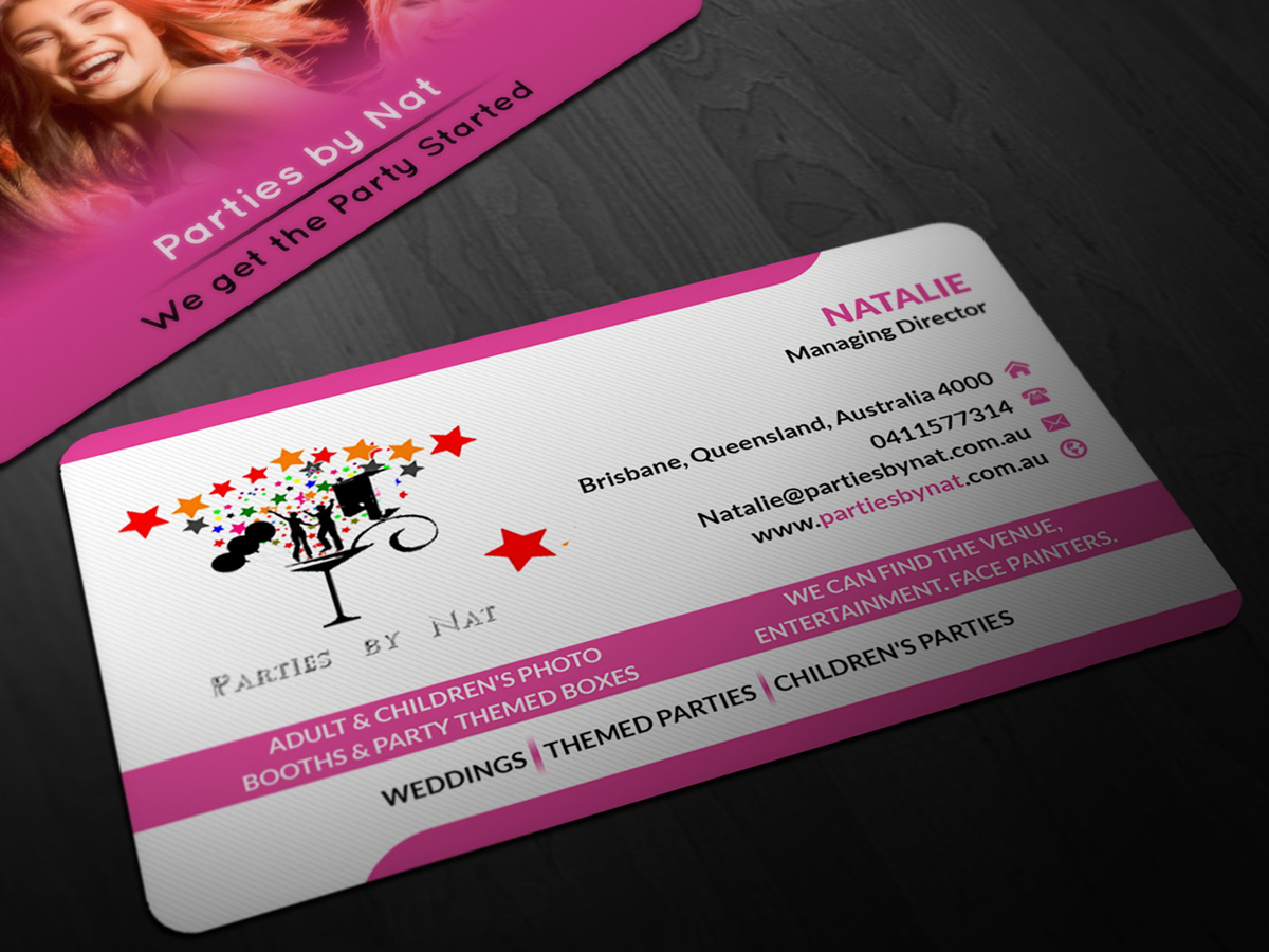 Party Planning Business Card Design For