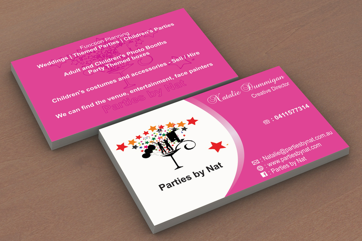Party Planning Business Card Design For A Company By Madhusudan