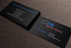 Business Card Design by MediaProductionArt - DB ELECTRICAL SERVICES