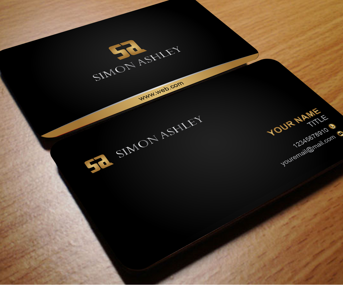 Business Card Design for David by Aaron