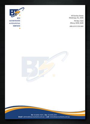 professional serious letterhead design design for bronwyn tyrell a