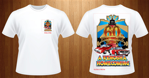 T-shirt Design by nanx - Car show t-shirt for 60th anniversary