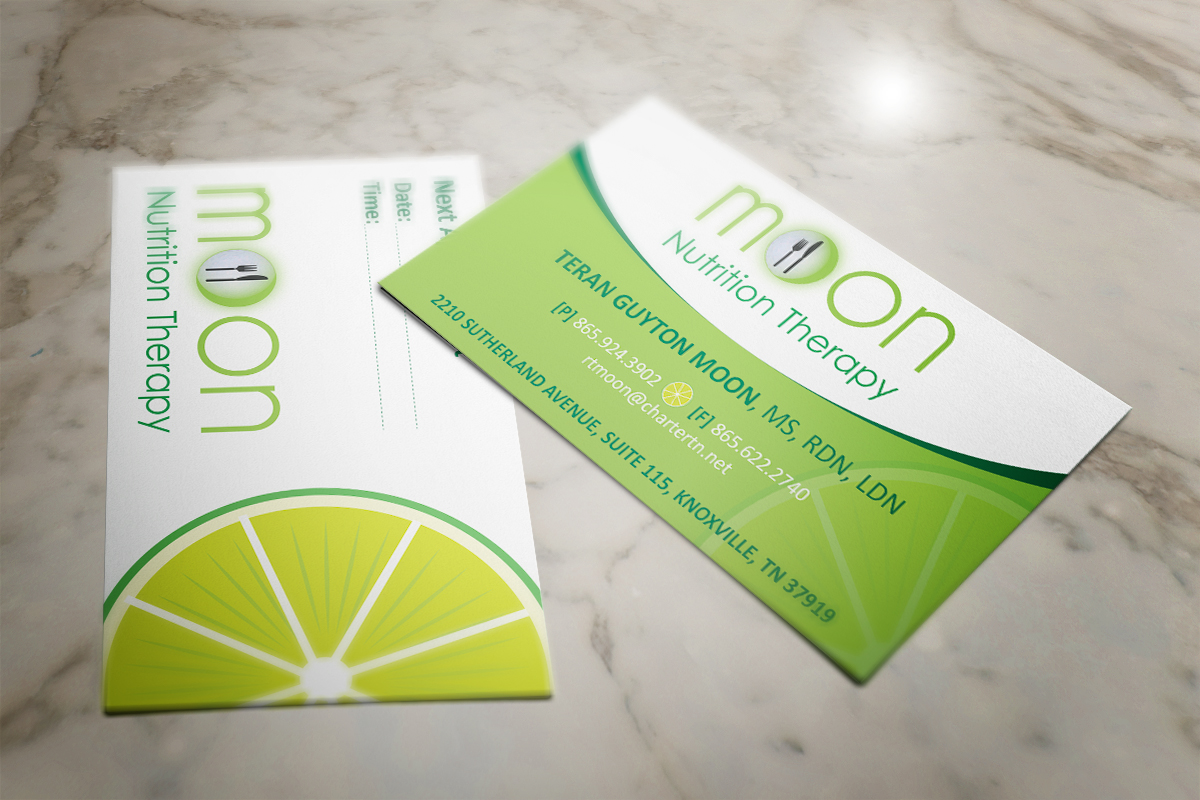 Colorful Playful Nutrition Business Card Design For A Company By