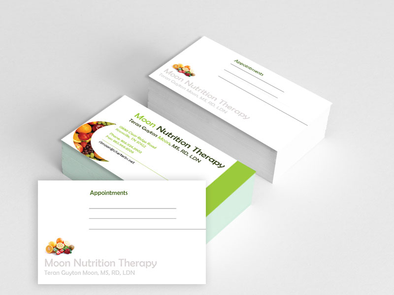 Colorful playful nutrition business card design for a company by business card design by feel free design for this project design 4220751 colourmoves