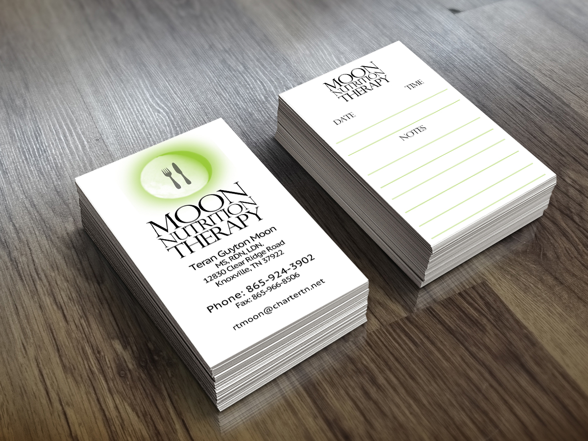 Colorful playful business card design for teran by rebecca turner business card design by rebecca turner for moon nutrition therapy needs a business card design colourmoves Images