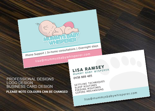 baby business card design for a company in australia design 4360230