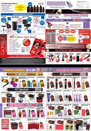 Brochure Design by UrbainFX - Hairdressing Supplier 4 Page Specials Leaflet