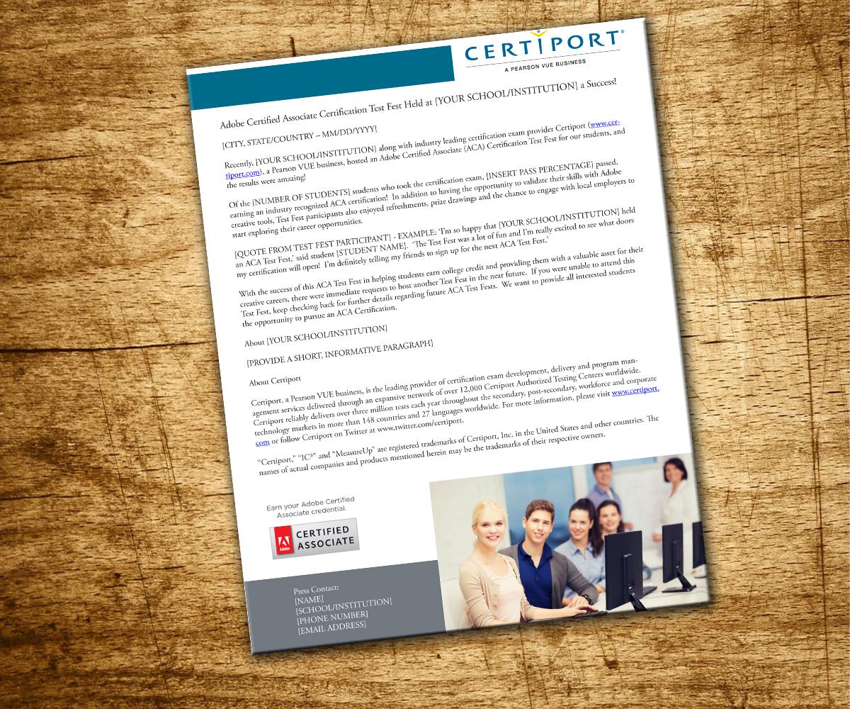 album press release template - elegant modern learn graphic design for new biz basics