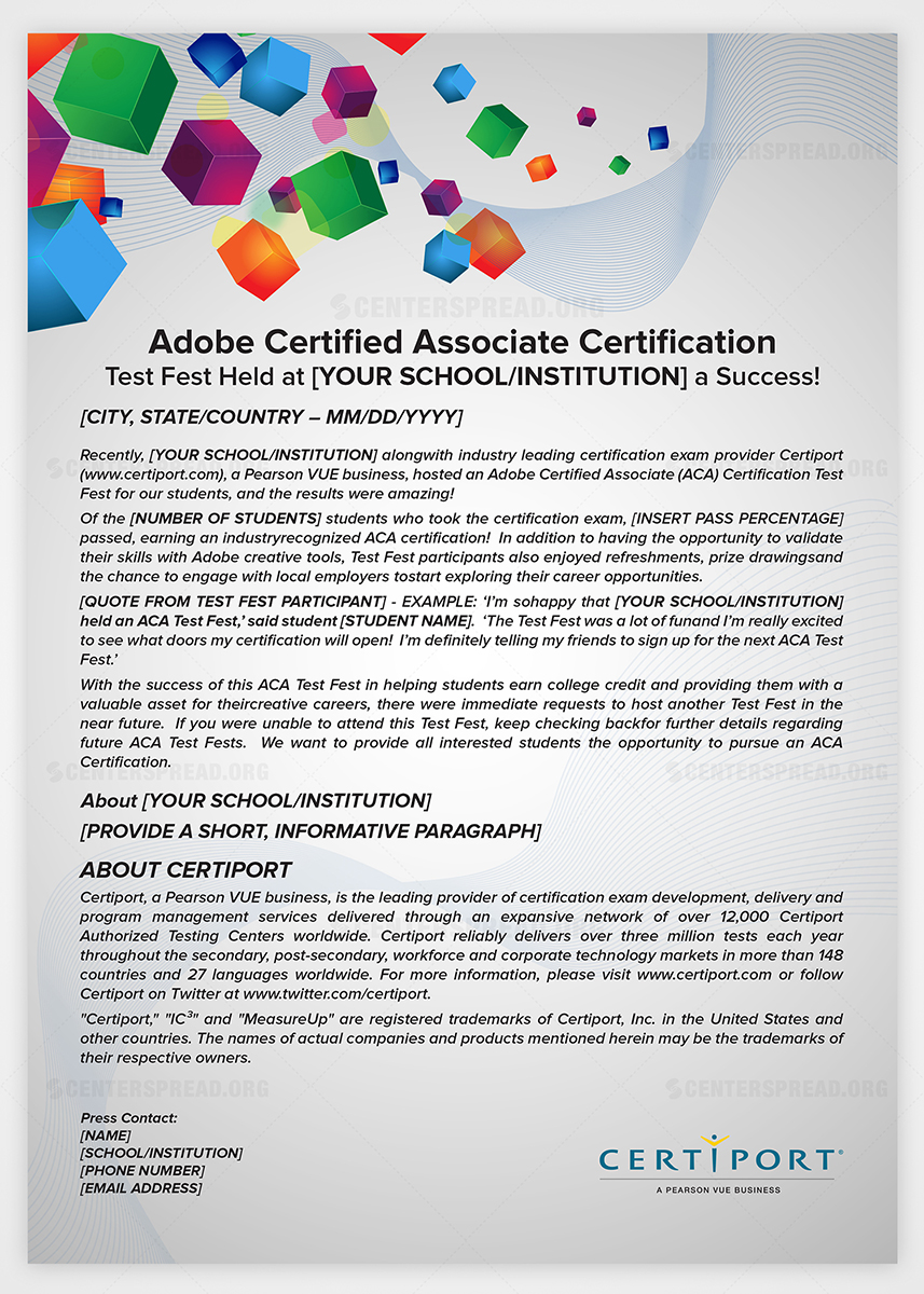 simple press release template - elegant modern learn graphic design for new biz basics