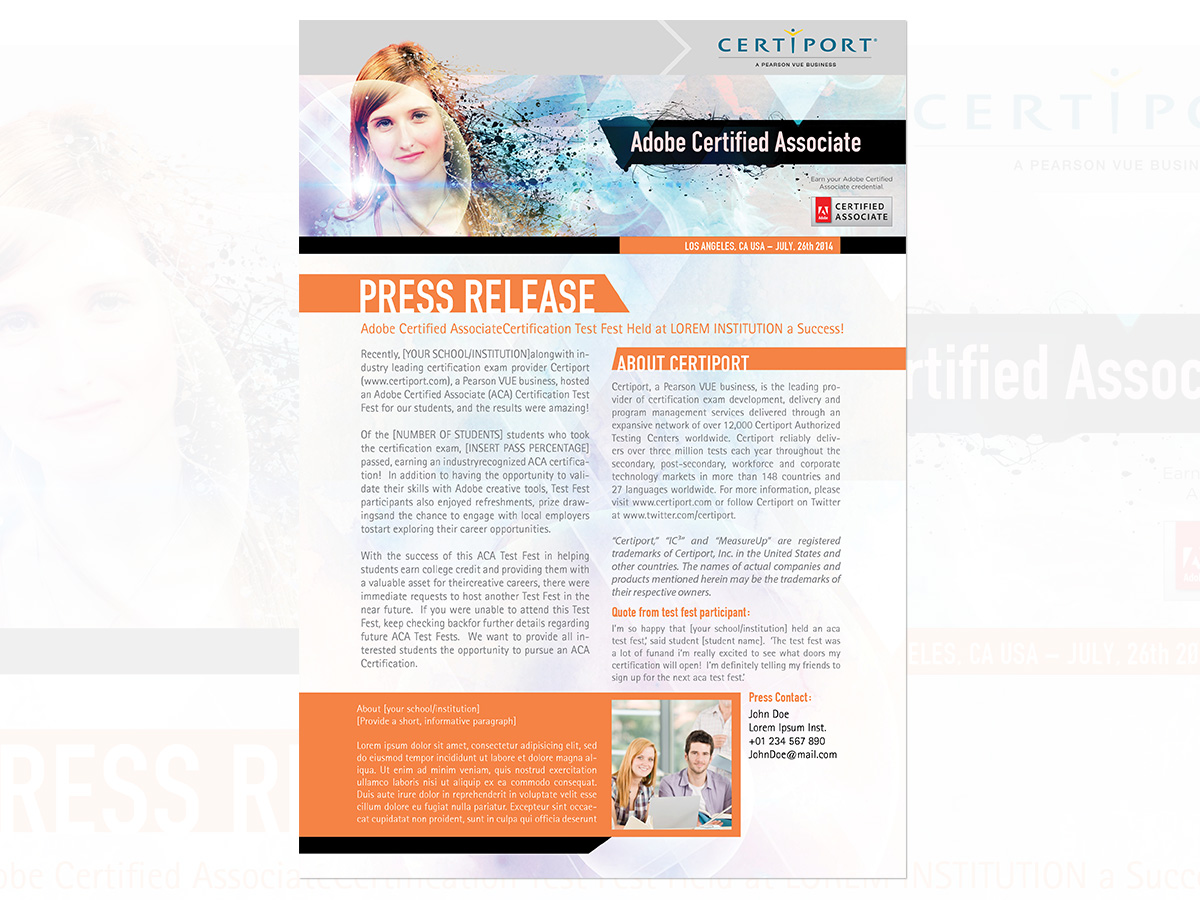 press releases template