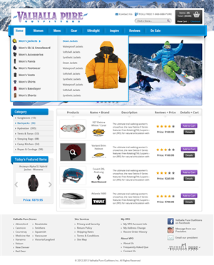 Web Design by creativewebdesignideas.com - ECommerce Site Redesign: overall site and speci...